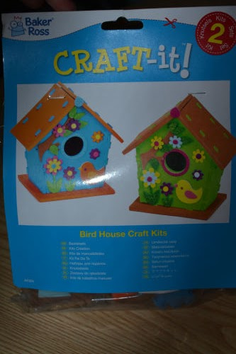 Foam birdhouse kits from yellowmoon review @ ups and downs, smiles and frowns.