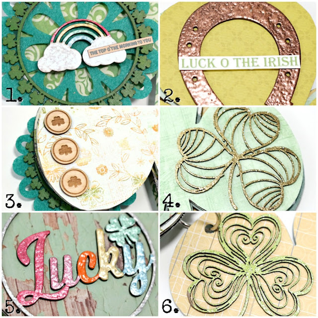 Chipboard and Wood Veneer St. Patrick's Day Embellishment Collage