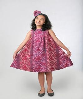 baju pesta batik anak perempuan