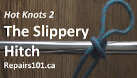 slippery hitch tied on steel bar