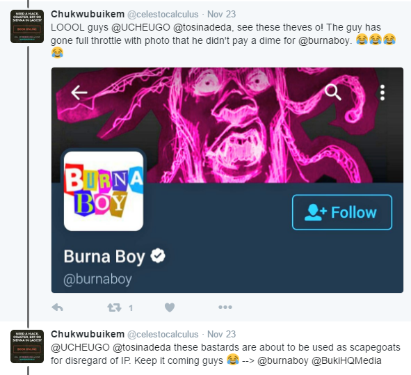 "Image result for ""Burna Boy, Your Fada!"" – Nigerian Guys Slams Burna Boy For Stealing His Art Work"