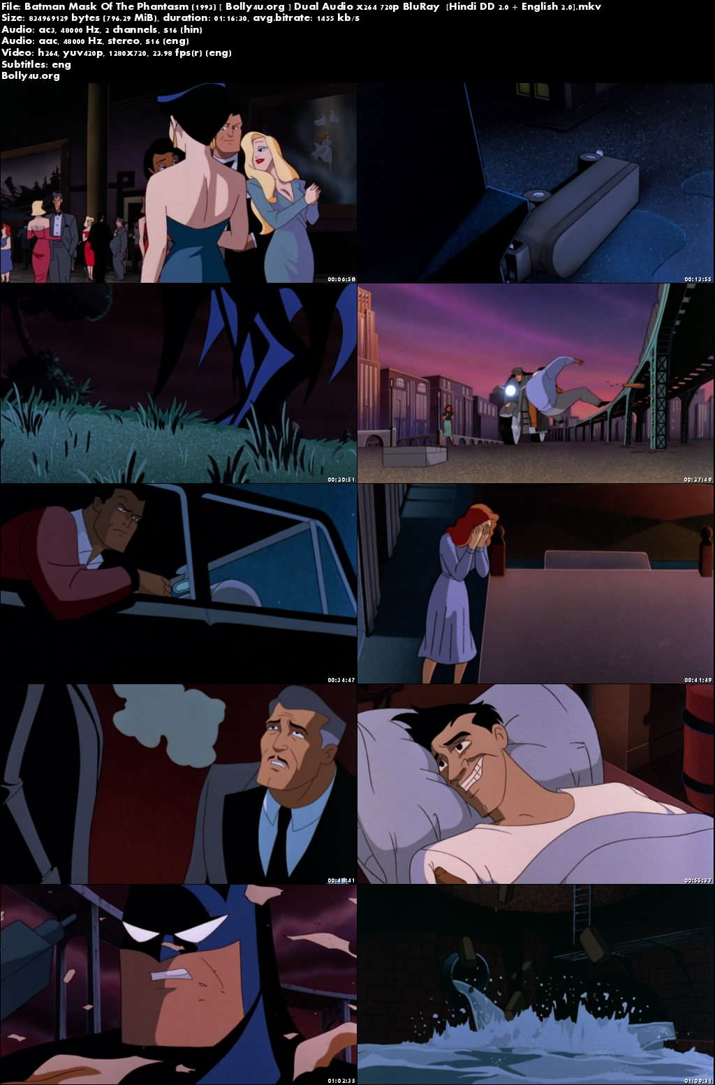 Batman Mask Of The Phantasm 1993 BRRip 250MB Hindi Dual Audio 480p Download