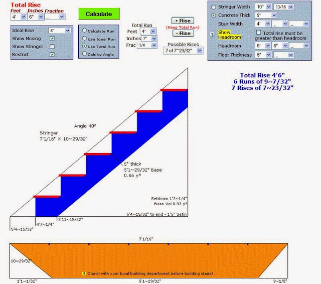 Stair Stringer Calculator