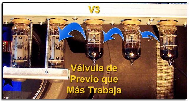 Válvulas de Previo en un Amplificador de Guitarra Eléctrica