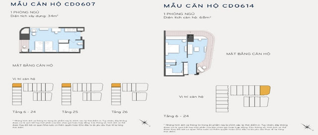 Thiết kế căn hộ 34m2 và 68m2 Eastin Phát Linh