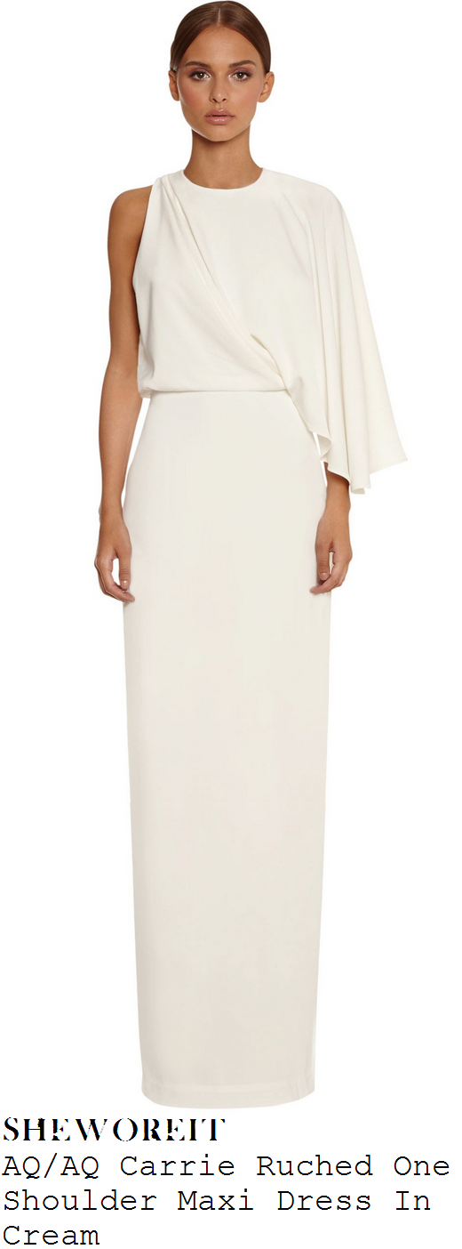 chloe-sims-aq-aq-carrie-cream-ruched-one-shoulder-pleated-sleeve-maxi-dress