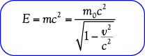 Rumus  energi total benda bergerak mendekati kecepatan cahaya