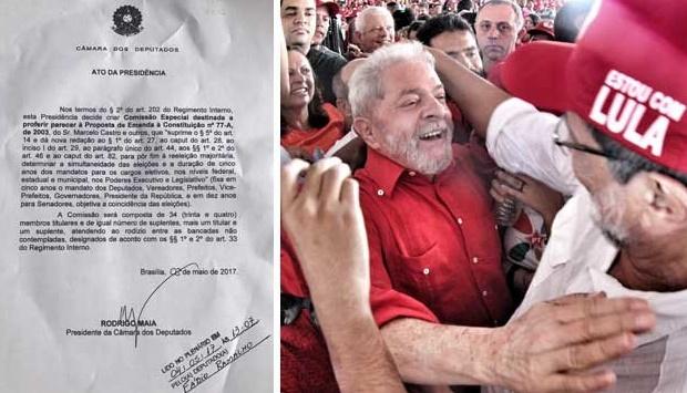 O presidente da Câmara dos Deputados, Rodrigo Maia (DEM-RJ), mandou instalar, na tarde desta quinta-feira, uma comissão especial para analisar uma proposta de emenda constitucional, apresentada pelo deputado Marcelo Castro (PMDB-PI), que estabelece a simultaneidade nas eleições para todos os cargos majoritários.
