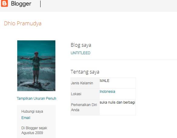 Pindah ke Profil Blogger