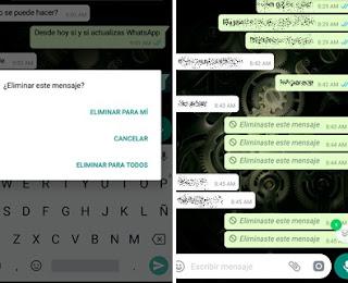 WhatsApp ya permite eliminar mensajes que no quieres que lean