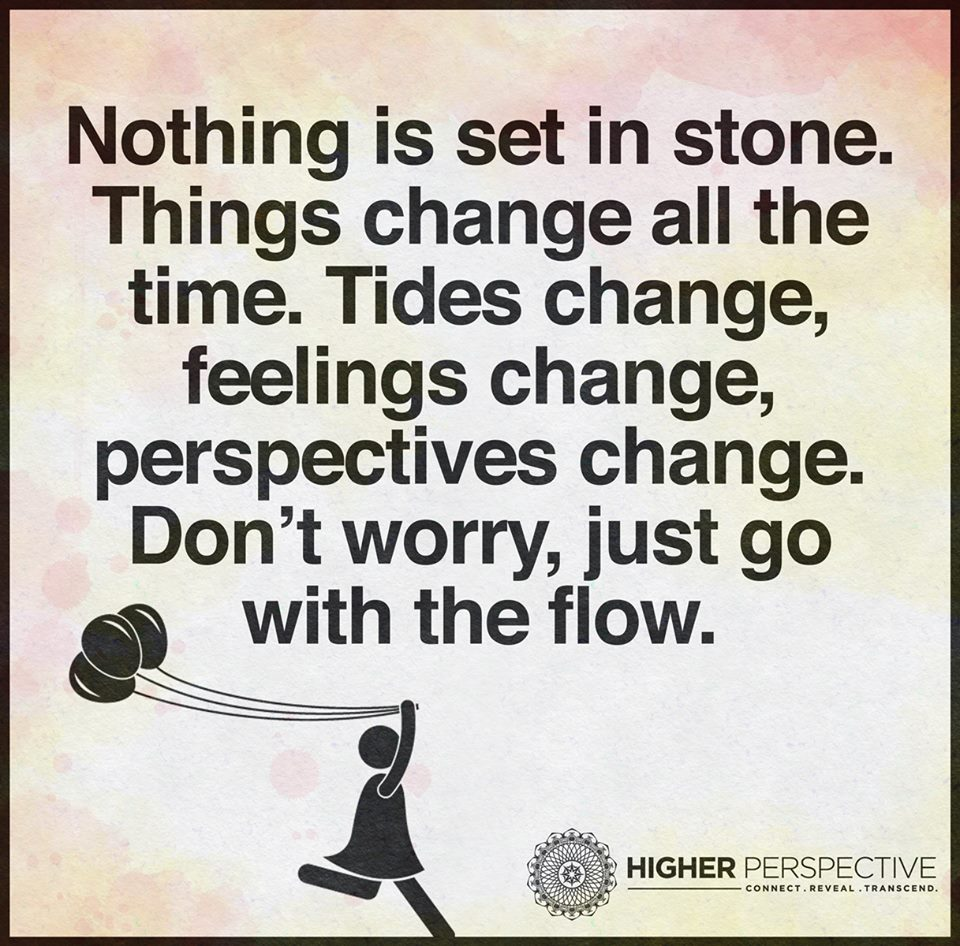 Go With The Flow Quotes Nothing Is Set In Stonethings Change All The Timetides Change