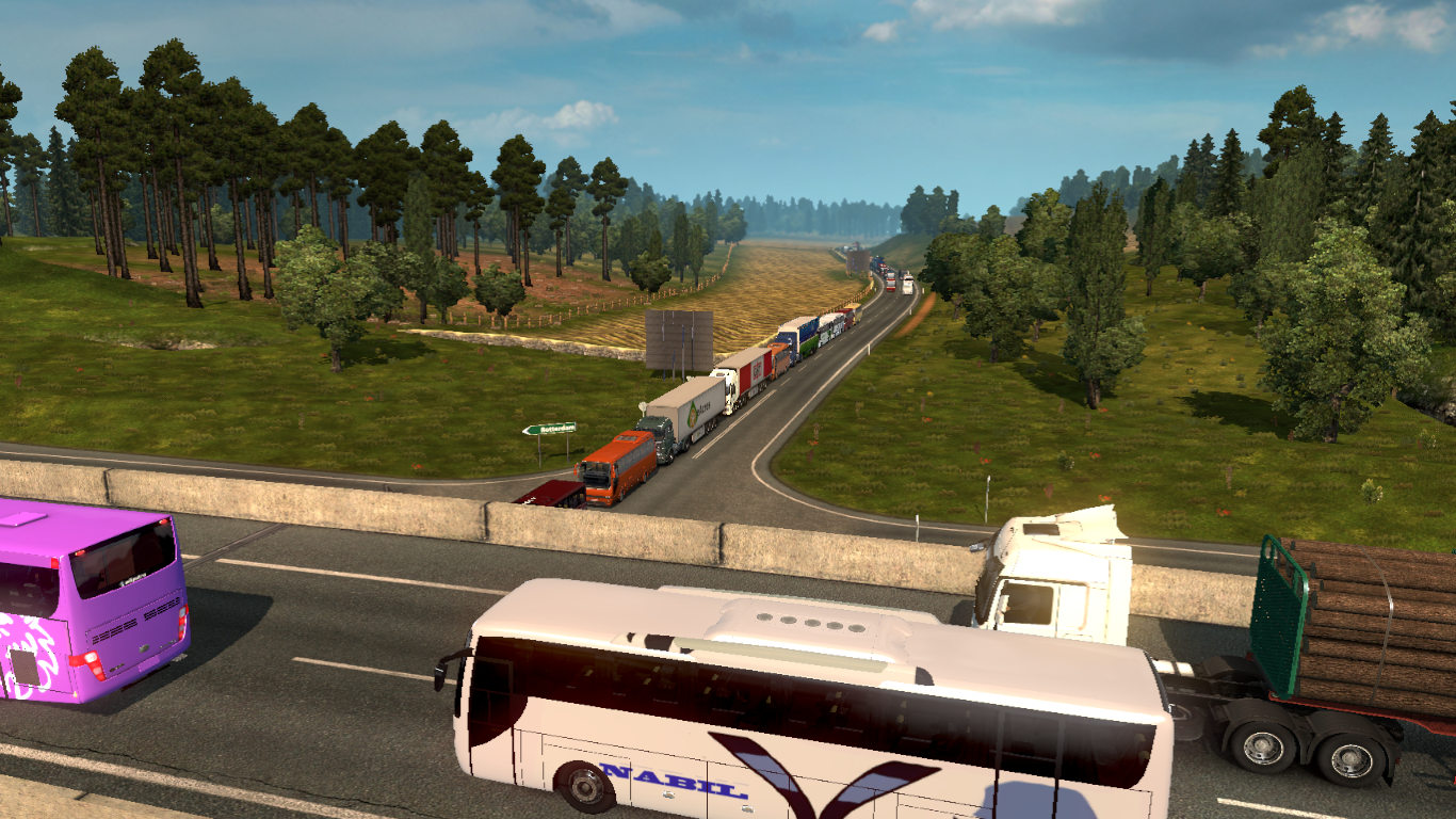 Bangladeshi Bus Traffic Mod For Euro Truck Simulator 2 (x1
