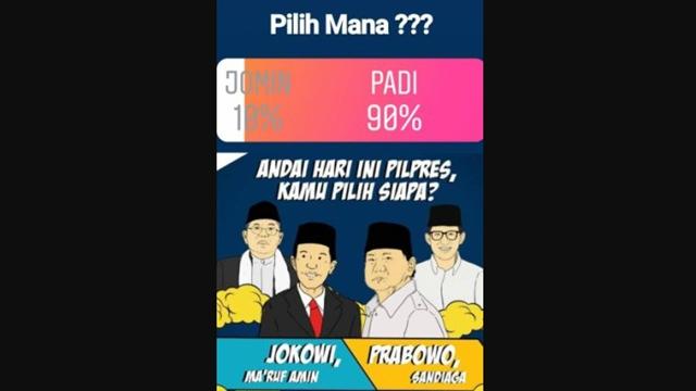 Polling di Akun Instagram Ini, Prabowo-Sandi Raih 90% Suara