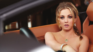 Kaley Cuoco in the car photoshoot