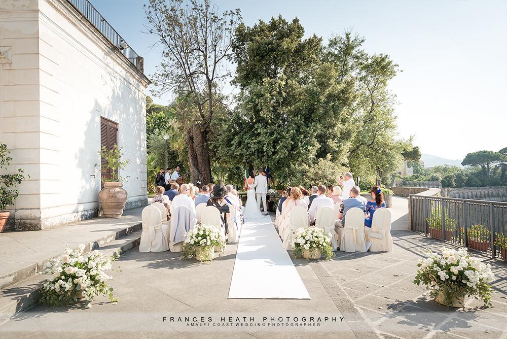Seaview wedding Villa Fondi