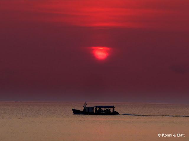 sunset, tioman island, abc, kampung air batang, south china sea,