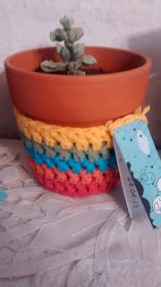 maceta planta suculenta crochet