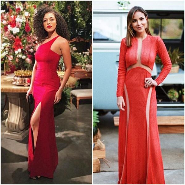 Casamento Niina Secrets: Look das Convidadas Luisa Acorsi Rayza Nicacio Vestido Vermelho Festa