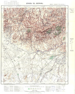Jouj Beghal Morocco 50000 (50k) Topographic map free download