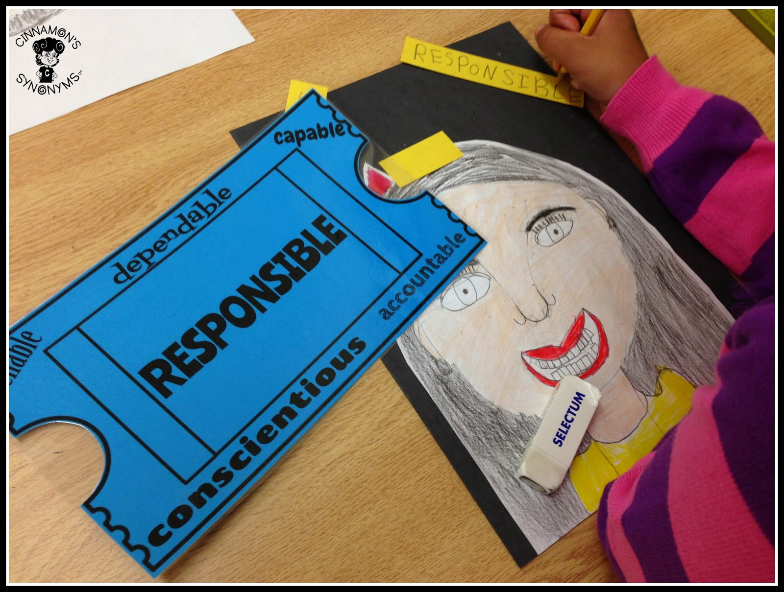 Cinnamon's Synonyms: Drawing Self Portraits and Building Positive