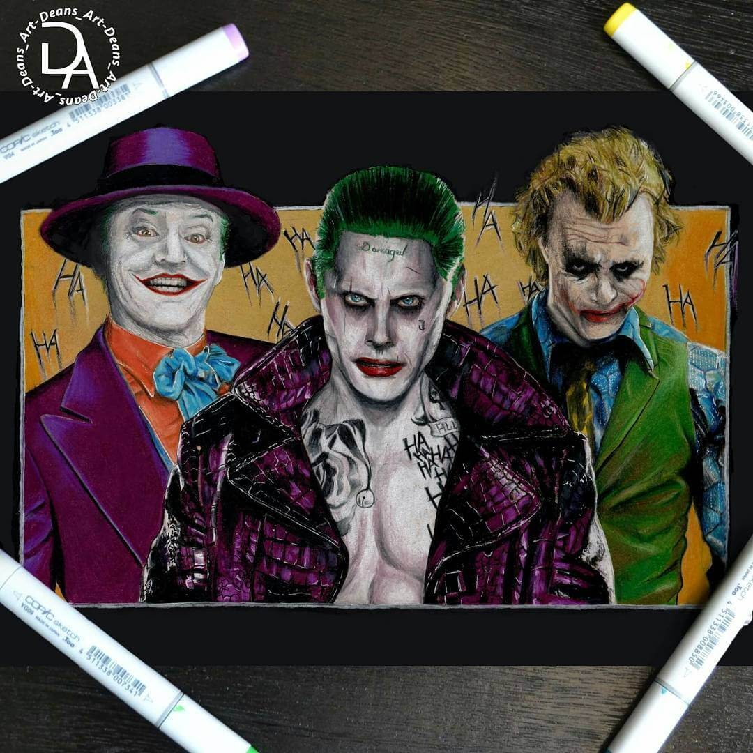 06-Joker-Dean-McCann-Superheroes-Villains-Monsters-and-Robot-Drawings-www-designstack-co