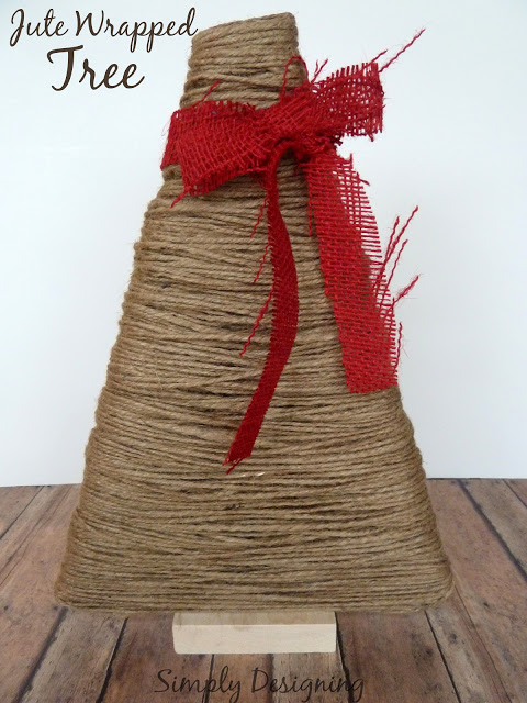 Jute Wrapped Christmas Tree