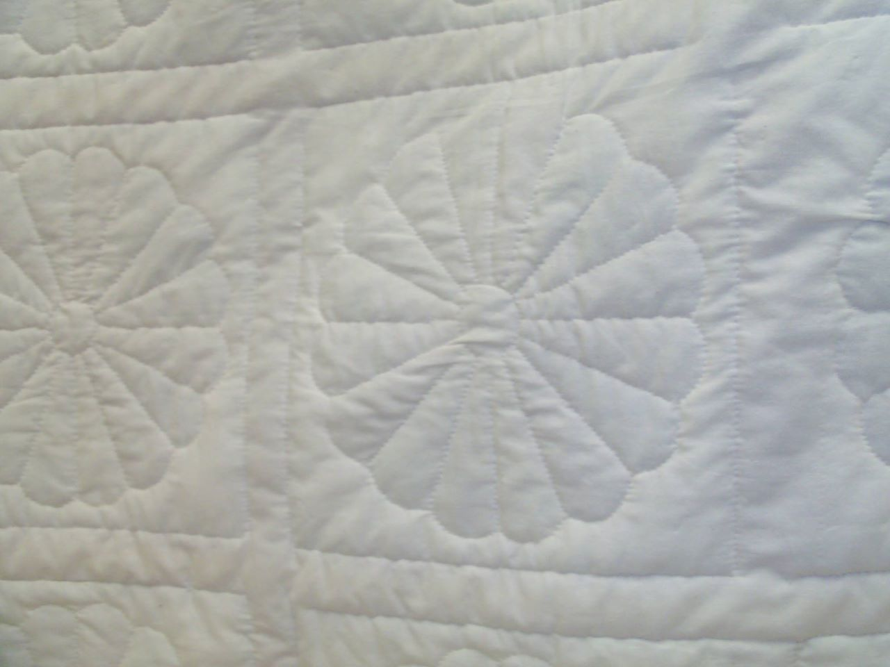 up close image of quilt stitching