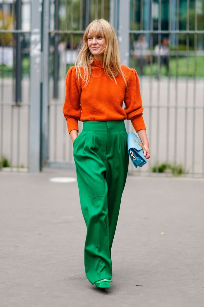 Love this orange and green combo-design addict mom #fashion #color