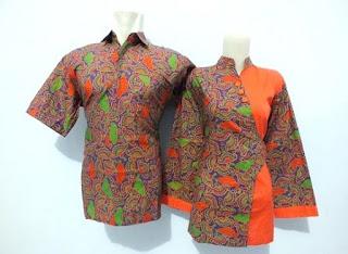 Model Baju Batik Kerja Guru Desain Modern