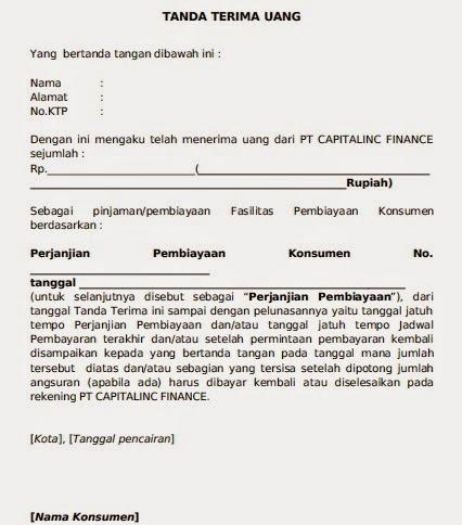 Contoh Surat Tanda Terima Uang 2019 Oktober 2019