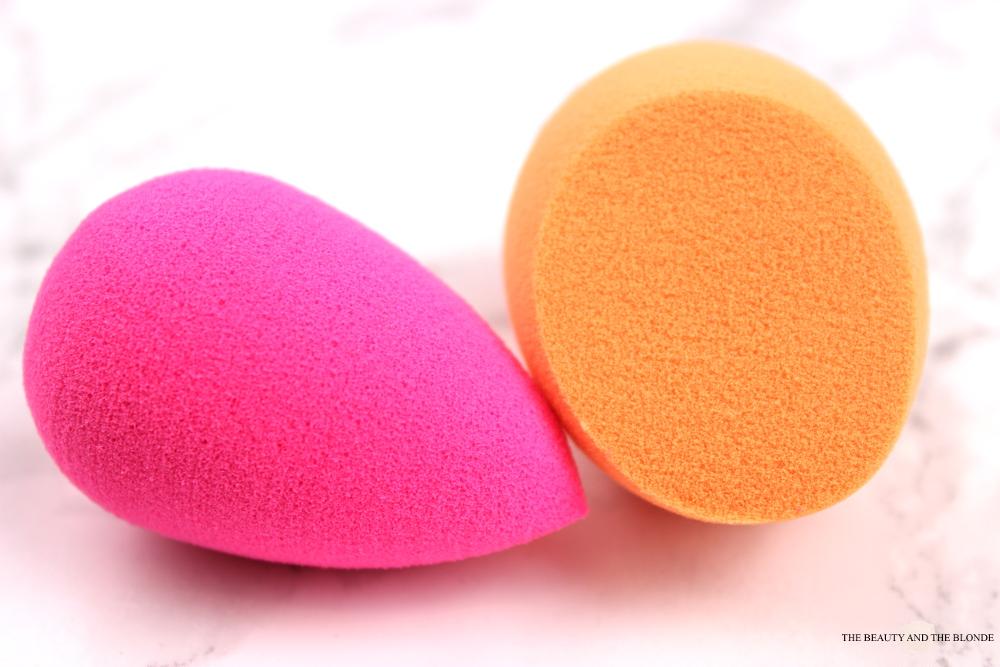 Vergleich Beautyblender Real Techniques MIracle Complexion Sponge trocken