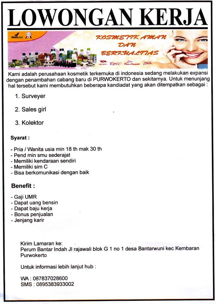 Loker CV Duta Jaya Mamkmur Purwokerto - Cari Lowongan Kerja