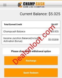 champcash app earn proof