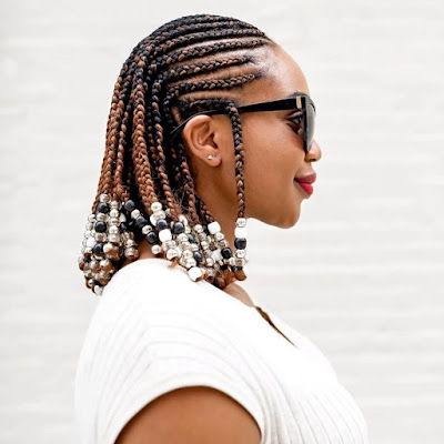 lemonade braids are refreshing every year and so tasty ✘ 23 Jumbo Lemonade Braids Hairstyles With Beads To Copy In 2020
