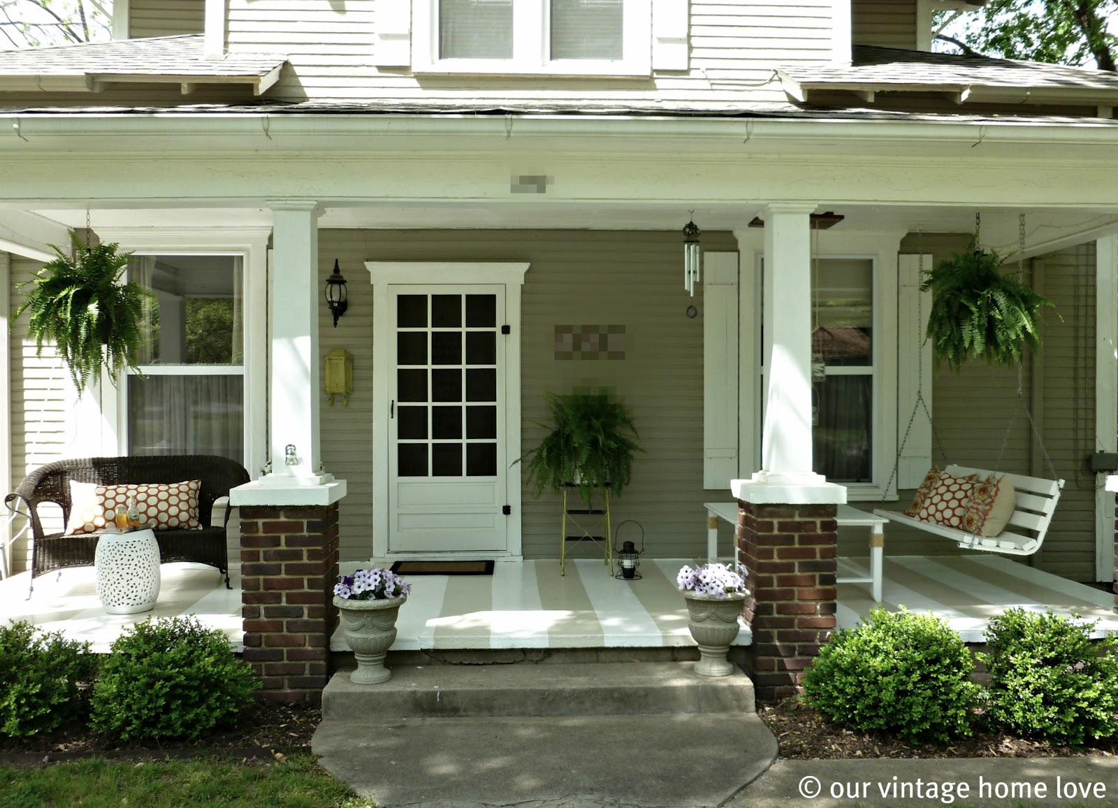 Front Porch Ideas Vintage Home Love: Spring/summer Porch Ideas