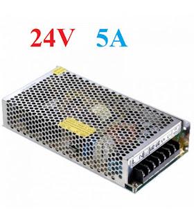 alimentatore stabilizzato switch 24v 5A trustech