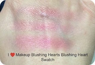 I Love Makeup Blushing Heart Swatch