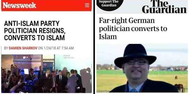 GEGER! Politisi Partai Pembenci-Islam Jerman Akhirnya Masuk Islam dan Mundur Dari Partai