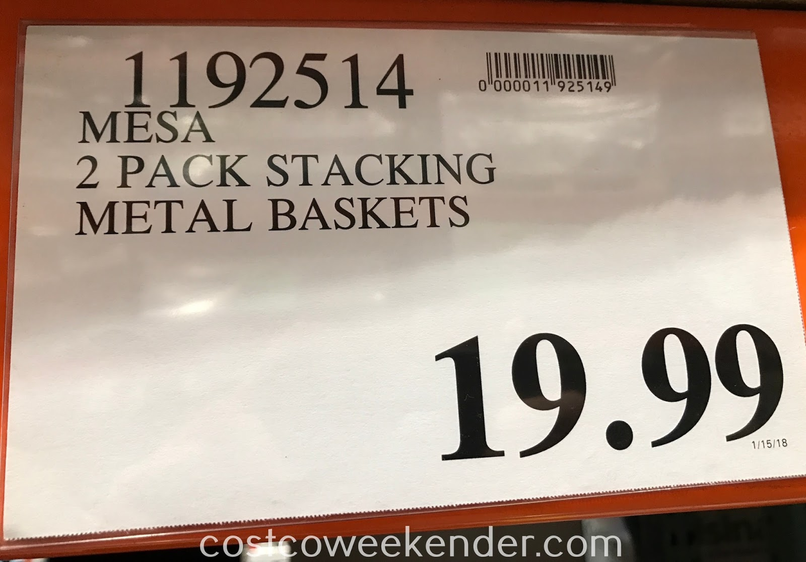 Deal for a set of 2 Mesa Stacking Storage Baskets