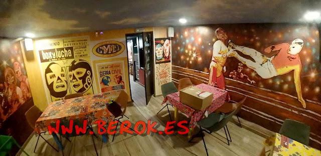 Decoración murales lucha libre mexicana