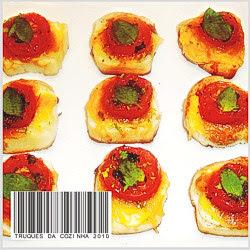 torrada finger food com cheddar
