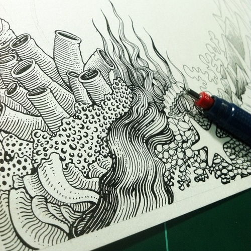 12-Under-Water-Muthahari-Insani-Beautifully-Detailed-Ink-Drawings-and-Doodles-www-designstack-co