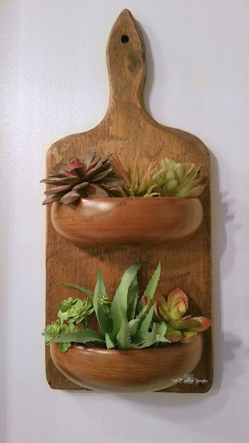 Cutting Board Succulent Planter