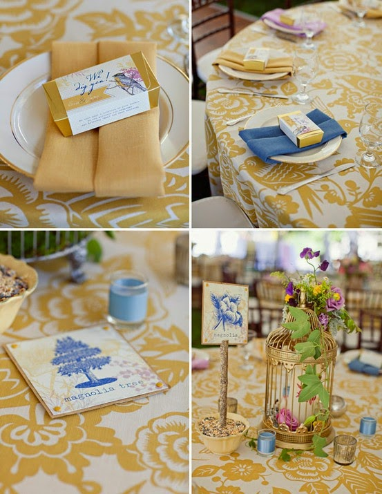 An Elegant Blue and Gold Wedding