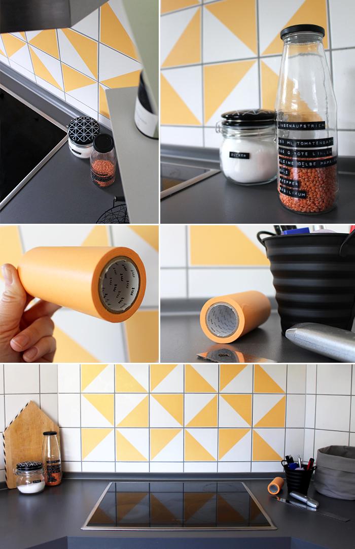 do it yourself fliesenspiegel mit masking tape versch nern. Black Bedroom Furniture Sets. Home Design Ideas