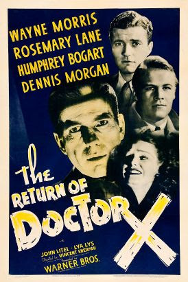 The Return of Doctor X (1939), poster de la película.