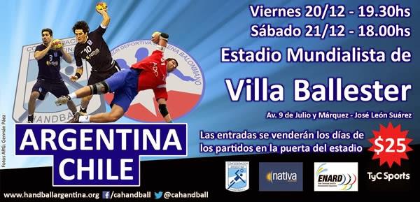 Amistosos Argentina - Chile, en diciembre | Mundo Handball