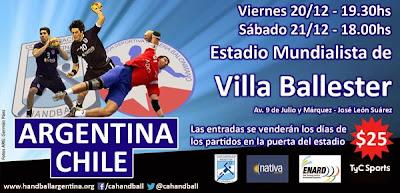 Dos amistosos argentina - chile | Mundo Handball