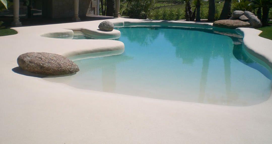 Con decoro piscinas de arena for Piscinas de arena compactada