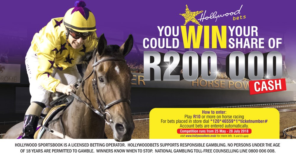 R200,000 Horse Racing Promotion - Hollywoodbets